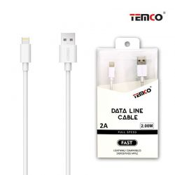 CABLE 2A 2M LIGHTNING BLANCO