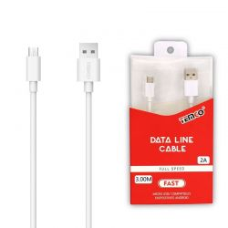 Cable 2A 3m Micro USB 5P...