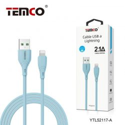 CABLE 2.1A 1M LIGHTNING AZUL