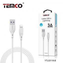 CABLE 3A 1M LIGHTNING BLANCO