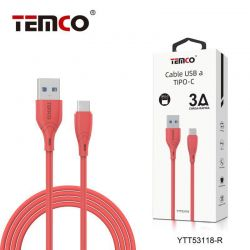 CABLE 3A 1M TIPO C ROJO