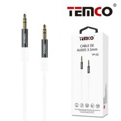 CABLE AUDIO 3.5MM METAL/BLANCO